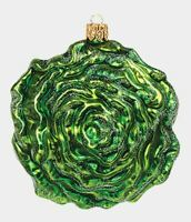 Head of Lettuce Vegetable Food Polish Mouth Blown Glass Christmas Ornament