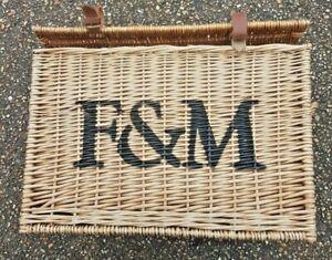 Fortnum and Mason Genuine Picnic Wicker basket Hamper Large