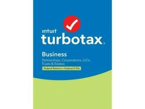 Intuit TurboTax Business Federal Returns Plus Federal E-File for Windows2019 NEW