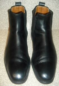 """Allen Edmonds """"LIVERPOOL"""" Chelsea BLACK LEATHER BOOTS  Made In USA-10 3E"""