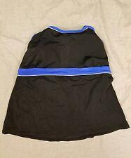 St Johns Bay Womens Swim Suit Tankini Blue Black Size 22W