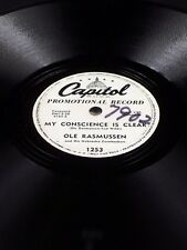 Capitol Promo 1253 Ole Rasmussen SPANISH POLKA / MY CONSCIENCE IS CLEAR 78 E+