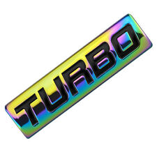 NEO CHROME/BLACK METAL TURBO ENGINE MOTOR SWAP EMBLEM BADGE FOR TRUNK DOOR B