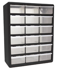 Large Plastic Tools Bin Toy Storage 18 Drawer Cabinet Organizer Garage Bedroom