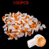 100Pcs Scotchlok UY2 Connector Butt Type Grease Filling Butt Wires New
