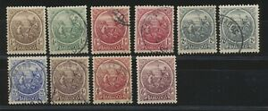 Barbados 1921 / 1924 Colonial Seal without POSTAGE & REVENUE used + 1/4d + 6d MH