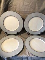 4 Set Lenox Dubarry Gray Dinner Plates X-433 Excellent Condition!