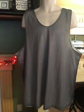 Mens Big/Tall  NWOT Gray & White Mesh Athletic Tank Top-3XL-Reversible