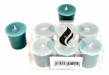 6 x Teal Votive Candles - Unscented