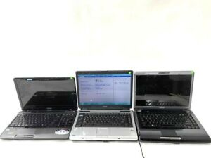 TOSHIBA Laptops WORKING Lot of 3