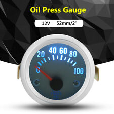 "2"" 52mm Car Auto Electrical Pointer Oil Pressure Press Meter Gauge 0-100PSI"
