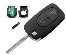 Completo 2 botón remoto Flip llave para Audi A3 A4 A6 - 4D0 837 231 434 Mhz