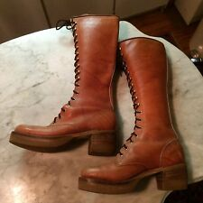 vtg '70 platform knee  LONDON TOWN motorcycle mens boots size 8.5 gay interest