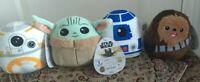 Squishmallow Star Wars lot Baby Yoda The Child Chewbacca Chewie R2-D2 BB-8 NWT