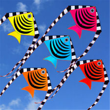 1.2m 48'' Flying Fish Kite Tail Outdoor Sport Game Children Kids Fun Toy Gift