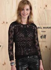 ISABEL MARANT POUR H&M ,TOP DENTELLE NOIRE ,NEUF ,ÉTIQUETÉ. T : 34
