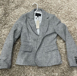 Banana Republic Blazer Size 2P Gray Wool Blend Jacket 2 Button Women's 2 P