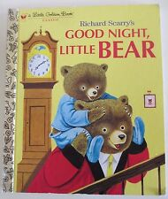 Good Night, Little Bear by Patsy & Richard Scarry - Little Golden Book