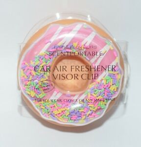 BATH & BODY WORKS SPRINKLED DONUT SCENTPORTABLE HOLDER VISOR CLIP CAR FRESHENER