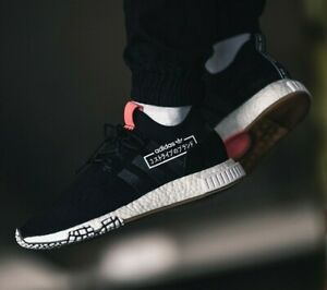 Adidas Originals NMD_Racer Primeknit Shoes Alphatype Casual Athletic Black-White