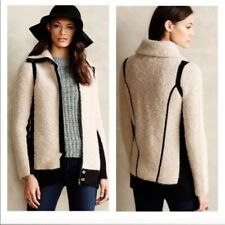 Sparrow Anthropologie Beige Black Boucle Cardigan Sweater Jacket XS