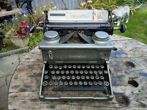 Vintage imperial typewriter  retro vintage display prop