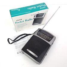 RadioShack Pocket Radio Portable Compact AM/FM Antenna Wrist Strap Headphone