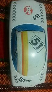 VINTAGE TIN TOY FRICTION CAR TAXI 51 FOREIGN HUNGARY