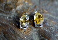 bezaubernde Ohrringe 925er Silber mit natürlichen unbehandelten Citrinen