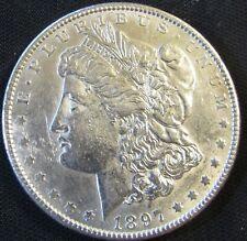 1897 Philadelphia Mint $1 Morgan Silver Dollar AN12