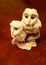 BORDER FINE ARTS 'WATCHING & WAITING' (PAIR of OWLETS) FIGURINE