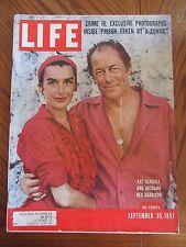 Life Magazine Kay Kendall and Husband Rex Harrison September 1957