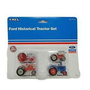 ERTL 1/64 Scale Ford Historical Tractor Set #862 1991 NEW