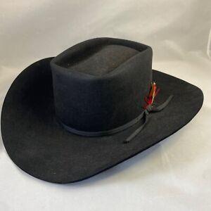 Vintage BEAVER HAT 10x  Western COWBOY HAT Black Litwins Rancher