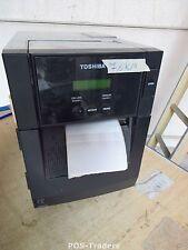 7,6KM Toshiba B-SA4TM B-SA4TM-GS12-QM-R Thermal Barcode Label Printer USB NETWOR