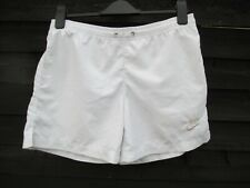 RARE Nike Football Sport Swimming Shorts/ Trunks - All White - SIZE S / W30 Mens