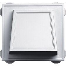 """Builders Edge 140056774001 6"""" Hooded Vent 001, White"""