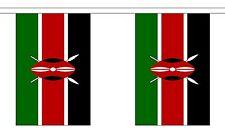 Kenya 3 Metre Bunting 10 Flags Flag 3m Kenyan African Africa Nairobi