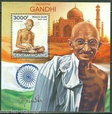 Central Africa 2014 Mahatma Gandhi Souvenir Sheet Mint Nh