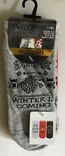 Ladies 3 pack Multi Coloured Shoe Liner Socks with Game of Thrones. size 4-8