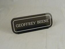 Vtg Mid Century Men's Clothing Store Geoffrey Beene Lucite Counter Display Sign