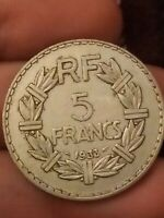 COIN / FRANCE / 5 FRANCS 1933 French free UK post coin Kayihan coins