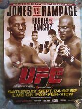 UFC 135  18 X 24 POSTER  JONES VS RAMPAGE  HUGHES VS SANCHEZ  HARD TO FIND MMA
