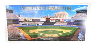 """Yankee Stadium Matinee William Feldman Matted Ballparks Artwork 17"""" x 8"""""""