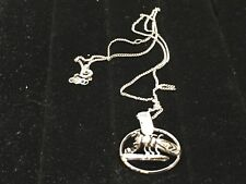 Vintage Costume Jewelry Necklace Silver-tone Sarah Coventry Lobster Crab Pendent