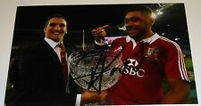 TOBY FALETAU BRITISH LIONS RUGBY PERSONALLY HAND SIGNED AUTOGRAPH PHOTO