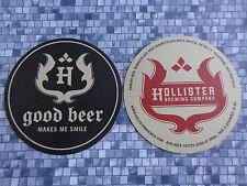 Beer Coaster ~><~ HOLLISTER Brewing Co & Restaurant ~ Goleta, CALIFORNIA ~ Smile