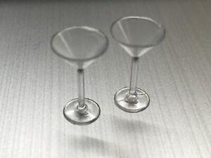1/12th DOLLS HOUSE 2 X COCKTAIL  GLASS,S  PUB,  BAR