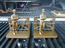 FAB MID CENTURY BRONZE JOCKEY BOOKENDS