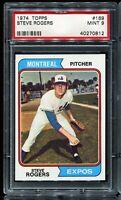 1974 Topps Baseball #169 STEVE ROGERS Montreal Expos PSA 9 MINT